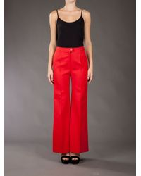 Paco Rabanne - Flared Trousers - Lyst