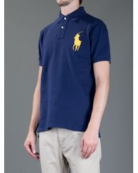 Ralph Lauren Blue Label - Blue Polo Shirt for Men - Lyst