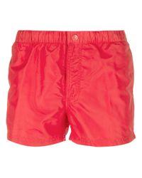 Sundek - Red Classic Swim Shorts for Men - Lyst