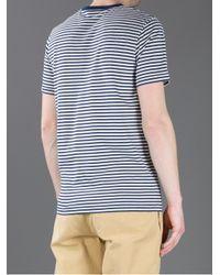 Sunspel Blue Striped T-Shirt for men