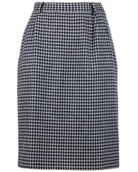 Valentino | Black Houndstooth Skirt | Lyst