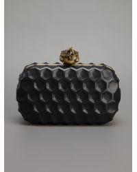 Alexander McQueen - Black Skull Honeycomb Clutch - Lyst