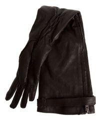 Ann Demeulemeester | Black Zipped Long Glove | Lyst