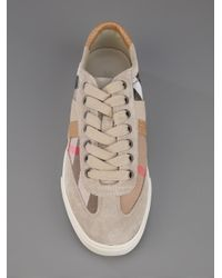 Burberry | Natural All Star Checked Sneaker | Lyst