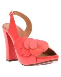 Chie Mihara - Red Floral Slingback Sandal - Lyst