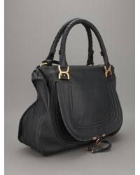 Chloé - Black The Marcie Large Textured-Leather Tote - Lyst