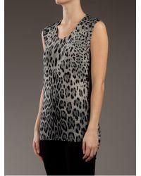 Dolce & Gabbana   Multicolor Leopard Print Vert Top   Lyst