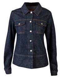 Helmut Lang | Blue Faux Fur Collar Denim Jacket | Lyst
