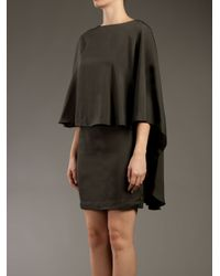 Lanvin | Gray Cape Dress | Lyst
