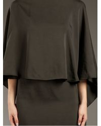 Lanvin - Gray Cape Dress - Lyst