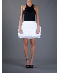 Meadham Kirchhoff - White Lola Panier Skirt - Lyst