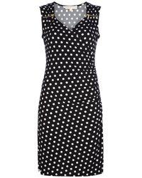 Michael Kors Black Polka-dot Pleated Shirtdress
