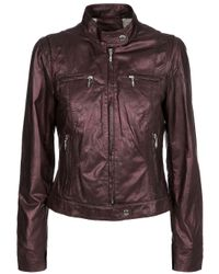 Oakwood | Brown Biker Jacket | Lyst