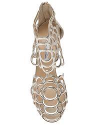 Oscar de la Renta - Metallic Gladia Camellia Cage Bootie - Lyst