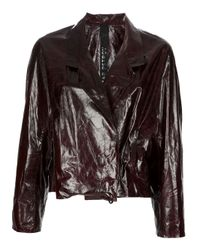 Petar Petrov | Brown Leather Jacket | Lyst
