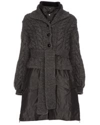 Sacai | Gray Two Piece Coat | Lyst