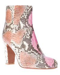 The Seller   Pink Snakeskin Boot   Lyst