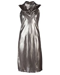 Thimister | Metallic Hooded Dress | Lyst