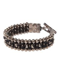 Tobias Wistisen | Metallic Chunky Beaded Bracelet for Men | Lyst