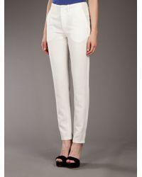Vanessa Bruno - White Ankle Length Trouser - Lyst