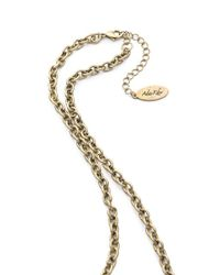 Adia Kibur - Metallic Hammered Link Necklace - Lyst