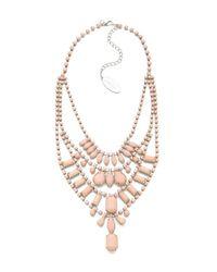 Adia Kibur - Pink Multi Layer Pastel Necklace - Lyst