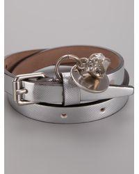 Alexander McQueen - Metallic Skull Charm Bracelet for Men - Lyst