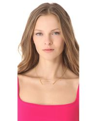 Alexis Bittar - Metallic New Wave Trapezoid Necklace - Lyst