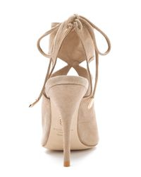 Aquazzura - Natural Sexy Thing Cutout Booties - Lyst