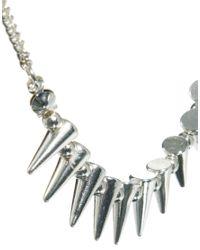 ASOS - Metallic Mini Spike Choker Necklace - Lyst