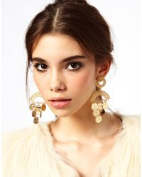 Baum und Pferdgarten - Metallic Asos Coin Detail Chandelier Earrings - Lyst