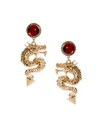ASOS | Red Dragon Drop Earrings | Lyst