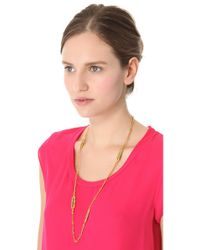 Aurelie Bidermann - Natural Wheat Long Necklace - Lyst