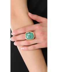 Aurelie Bidermann - Gray Miki Dora Rope Ring with Turquoise Stone - Lyst