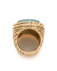 Aurelie Bidermann - Gray Miki Dora Rope Ring with Turquoise Stone - Lyst