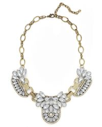 BaubleBar - Metallic Gold Iced Mademoiselle Necklace - Lyst