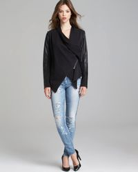 Blank NYC - Black Jacket - Faux Leather Asymmetric Zip - Lyst