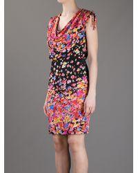 Blugirl Blumarine - Multicolor Sleeveless Floral Print Dress - Lyst
