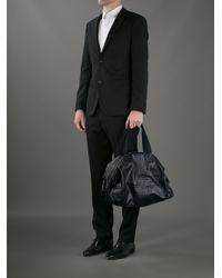 Bottega Veneta | Black Woven Detail Hold All for Men | Lyst