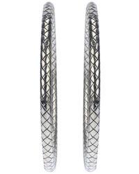 Bottega Veneta - Metallic Hoop Earrings - Lyst