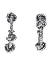 Bottega Veneta - Metallic Knot Pendant Earrings - Lyst