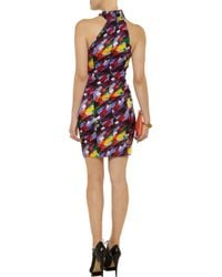 Catherine Malandrino Multicolor Sleeveless Printed Silk Dress