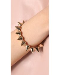 CC SKYE - Metallic Mercy Gold Spike Bracelet - Lyst