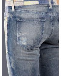 Current/Elliott - Blue Skinny Moto Jean - Lyst