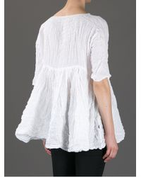 Daniela Gregis | White Creased Blouse | Lyst