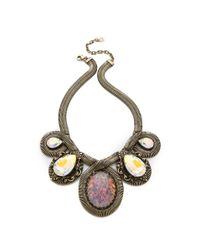 DANNIJO - Metallic Capri Necklace - Lyst