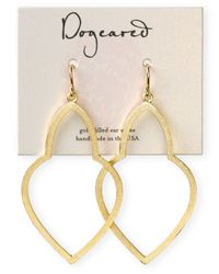 Dogeared - Metallic Gold Dipped Empress Drop Earrings - Lyst