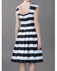 Dolce & Gabbana - Black Striped A-Line Dress - Lyst