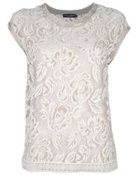 Dolce & Gabbana - White Lace Top - Lyst