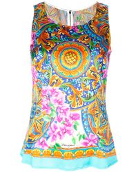 Dolce & Gabbana Multicolor Floral and Paisley Print Shirt